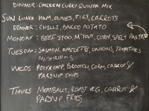 Here's the menu for this week.